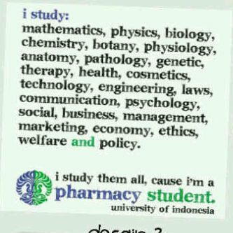 It's because i'm a pharmacy student...huff..